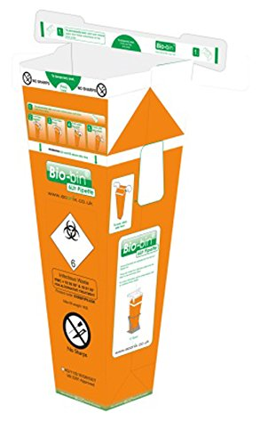 Generic Lab Supplies BEXBBPIP6.5OR Bio bin, 6 L, Oranje (Pak van 40)