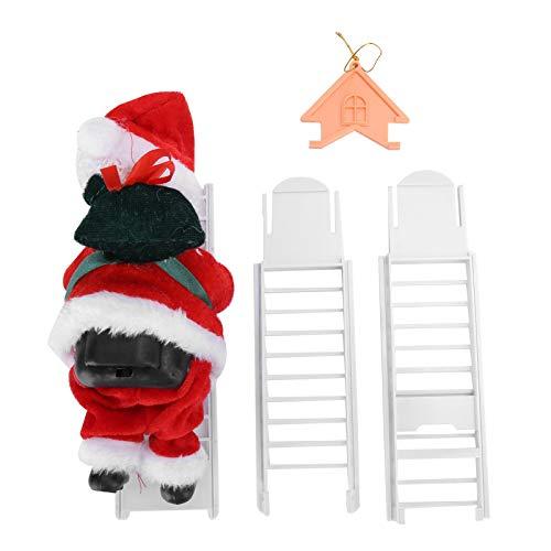 Toasses Suministros de decoración de Navidad Escalera de Escalada eléctrica Santa Claus Árbol de Navidad Ornamento Juguetes (Casa)