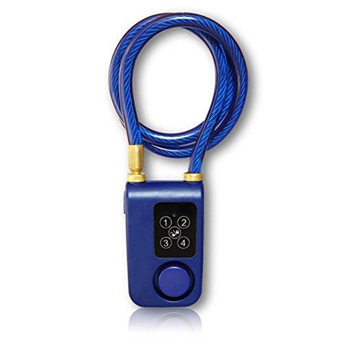 AIHOME–Candado para Bicicleta Bicicleta Alarma Puerta Cerradura de aplicación al Agua gesteuertes Cable antirrobo Bluetooth Alarma para Bicicleta Tricycle Scooter