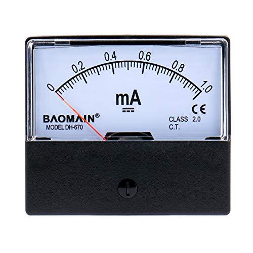 Baomain Amperemeter DH-670 DC 0-1 mA Rechteckige Ampere Nadelmessgerät