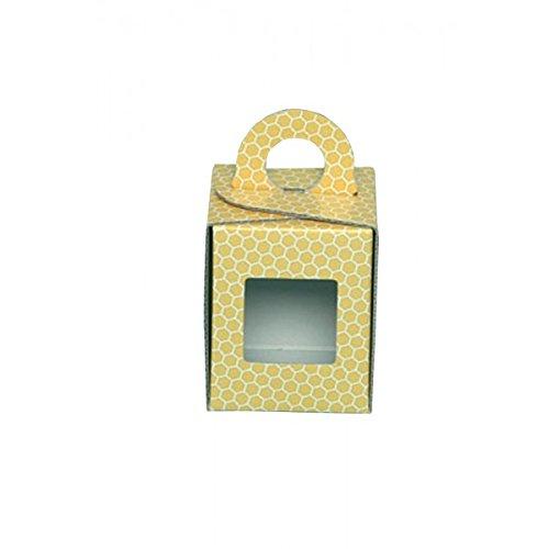 Apistore Scatola Astuccio in Cartone per Vaso Miele da 500 g (Giallo) - Conf. da 5 Pezzi