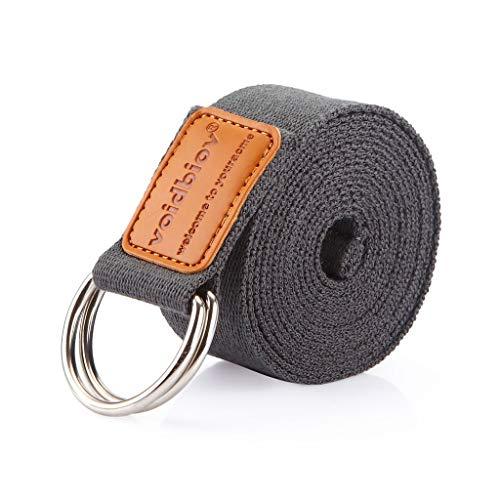 voidbiov D-Ring-Schnalle Yoga-Gurt, Strapazierfähiger BaumwolleVerstellbarer Gürtel, Perfekt Für Haltungen Verbesserung der Flexibilität und Physiotherapie