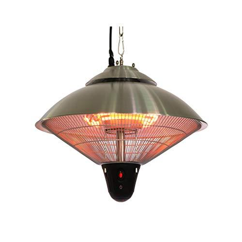 SHENXINCI Partyzelt Heizung hängend Partyheizung Zeltheizung Heizstrahler Heizpilz,LED-Beleuchtung,Schutzklasse: IP34, Silber