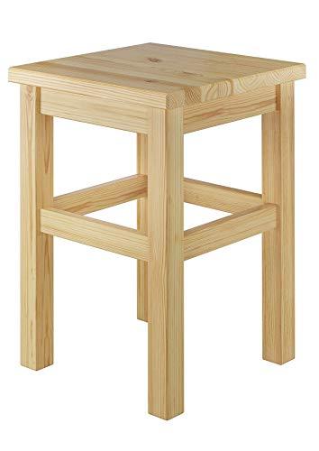 Erst-Holz® Holzhocker Massivholzsitz ohne Lehne in Kiefer massiv oder weiß V-90.71-41, Holzart/Holzfarbe:Kiefer