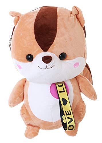 LB-189 XXL - Zaino in peluche, motivo: scoiattolo, Lolita Kawaii Harajuku