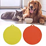 Pssopp 2pcs tappetini per Alimenti per Animali Domestici Antiscivolo per Alimenti per Cani Pad in Silicone per Animali Domestici Ciotola per Animali Domestici Forma Rotonda Antiscivolo