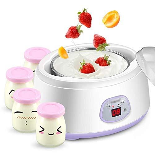SCJ Automatische Joghurtmaschine, multifunktionale Edelstahlauskleidung, automatische Fermentationsmaschine, Reisweinmaschine mit 4 Tassen Gärtank