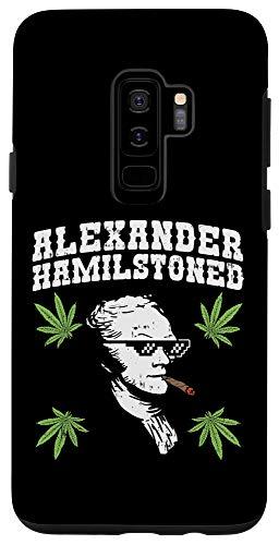 Galaxy S9+ Hamilstoned Alexander Hamilton 420 Cannabis Weed 4th Of July Case