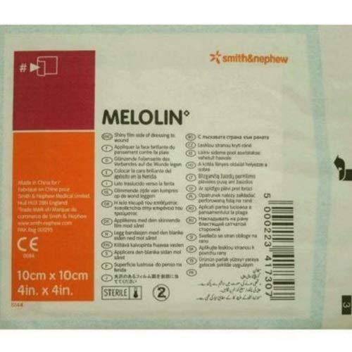 Melolin–Smith y Nephew 10x 10cm acolchado Dressing Pads–Pack de 5