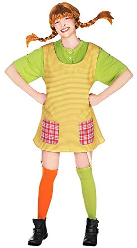 Maskworld Pippi Langstrumpf - Original Filmkostüm für Erwachsene 4teilig - gelb/grün (Small)