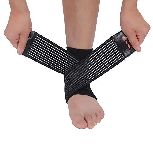 CAMBIVO 2 x enkelsteunbeugel, plantaire fasciitis sokken hoes, compressiesokken voor enkelspuit, ideale voethoes voor letsel herstel, gewrichtspijn, verlicht zwelling, hielspoor, Achillespees