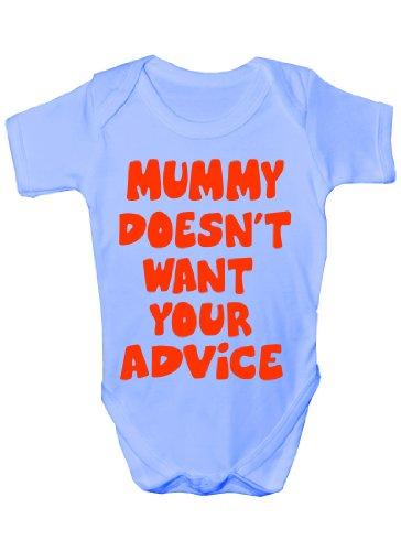 Maman NE voulez pas à votre Conseil ~ Cadeau humoristique Body Fille/Garçon Gilet - Bleu - 18 mois