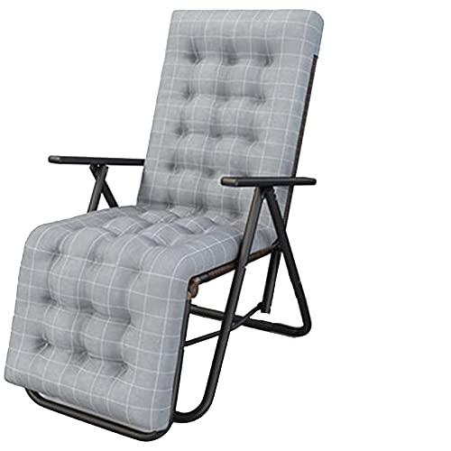 Renovierungshaus Klappstühle 9 Positionen verstellbare Liegen Mittagspause Haushalts-Multifunktions-Faulheitsstuhl Einfacher tragbarer Siesta-Stuhl mit oder ohne Wattepad-Option (Farbe: 001) (Farbe :