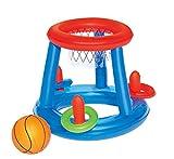 Doyeemei Floating Hoop Game Inflatable Swimming Pool Basketball Waterpolo Frame Inflatable Game Floating Basketball Pool Game Swimming Sports Game Toy Basketball 25 * 14 * 3cm