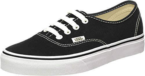 Vans Authentic, Sneaker Unisex – Adulto, Nero (Black/White), 42 EU