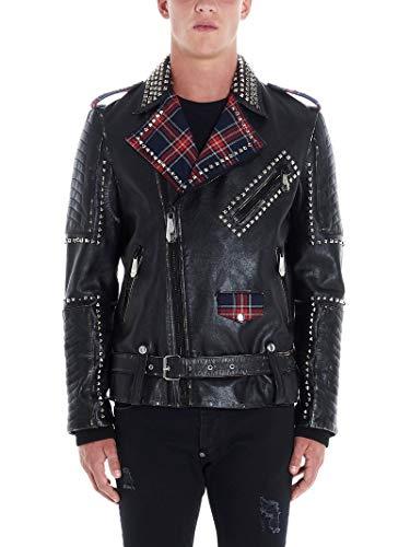 PHILIPP PLEIN Luxury Fashion Uomo MLB0987PLE010N0213 Nero Pelle Giacca Outerwear | Autunno-Inverno 19