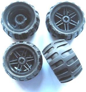 Lego Technic – 4 ruedas con neumáticos 43,2 x 26 globo con Llanta en
