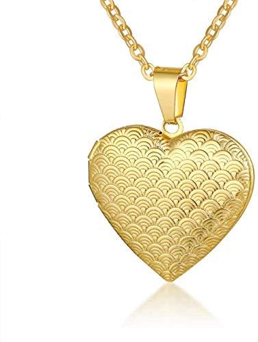 LJ Anhänger Halskette Schmuck Licht Herz Medaillon Anhänger Für Frauen Männer Öffnungsfähiger Bilderrahmen Glänzende Edelstahl Halsketten Familie Liebeshalsband