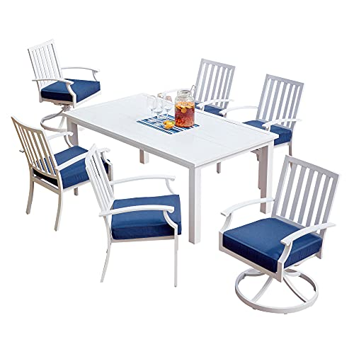 Patio Set - 7-Piece Patio Dining Set - Outdoor Patio Set - Vesper Collection - Dining Set Patio...