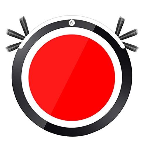 Robot Aspirador y Limpiador de trapeadores, 6,5 cm, Robot de Limpieza de Piso de Barrido automático Ultra Delgado con Sensor de caída para Piso Duro, Alfombra de Pila Baja, Rojo