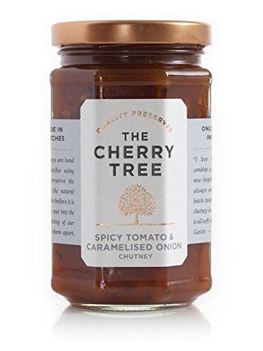 würziges Tomaten Chutney mit karamellisierten Zwiebeln - Spicy Tomato & Caramelised Onion - 320 g - Ein Premium-Gourmet Chutney der Spitzenklasse von The Cherry Tree