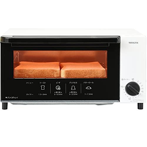 [山善] オーブントースター トースト 2枚焼き タイマー15分 ベル付き ホワイト YTN-S100(W) [メーカー保証1年]
