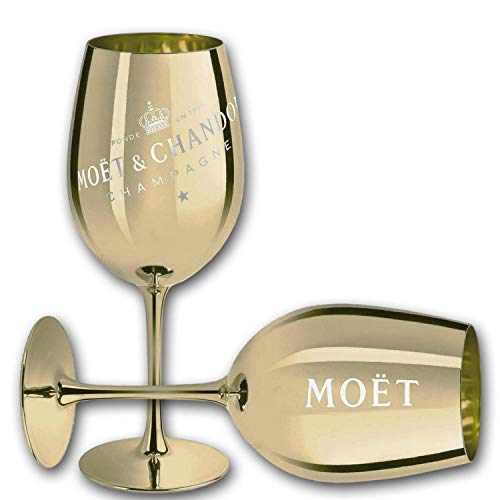 Moet & Chandon Imperial Champagner Echtglas Ibiza (Gold)