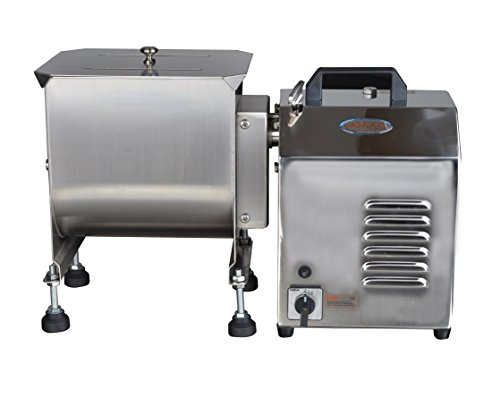 Hakka Electric 20-Pound capacity Tank Stainless Steel Manual Meat Mixer (Mixing Maximum 15-Pound for Meat)
