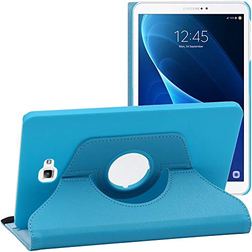 ebestStar - Funda Compatible con Samsung Galaxy Tab A6 A 10.1 (2018, 2016) T580 T585 Carcasa Cuero PU, Giratoria 360 Grados, Función de Soporte, Azul [Aparato: 254.2 x 155.3 x 8.2mm, 10.1'']