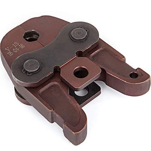VEVOR Pressbacke V15 15 mm Max. Öffnung, Presszange Pressbacke 147 mm Länge, 102 mm Breite, Profi Pressbacken aus Stahl, Verbundrohre Pressbacke für...