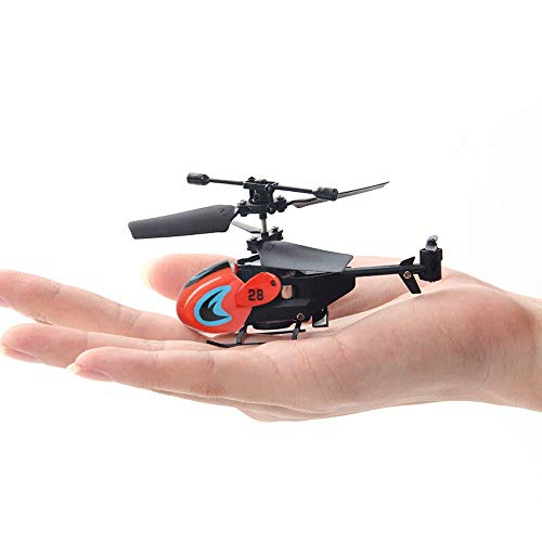 Kikioo Mini Drone Portable Flying RC Helicopte 3CH Channel Gyro Helicopter with Winch Carry Basket Colorful LED Lighting Flashing Remote Control Children Adults Return Flying Toys White