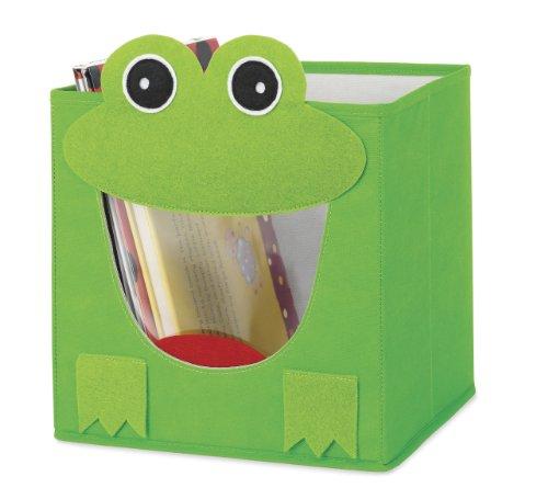 Whitmor 6256–4925 Frog Pliable Cube, Green, Storage