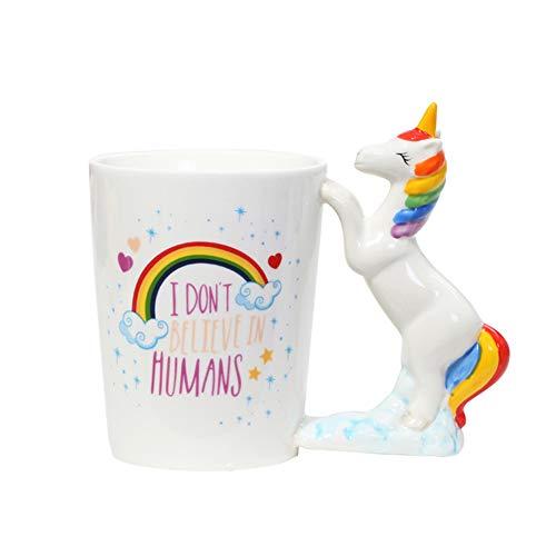 Unicorn Mug 3D Creative Art Coffee Mug Ceramic Milk Cups Travel Mug with Unicorn Handle Quality Ceramic Mug Gift for Kids, Adults Christmas gift