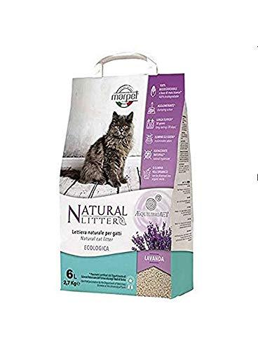 Marpet Aequilibria Vet - Lettiera Naturale per gatti al Talco - 100% Biodegradabile - Agglomerante - Antiodore - 6 LT