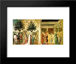 Procession of The Queen of Sheba and Meeting Between The Queen of Sheba and King Solomon 18x15 Framed Art Print by Piero Della Francesca