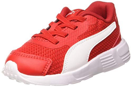 PUMA Unisex Baby Taper Ac Inf Sneaker, Mehrfarbig (High Risk Red-Puma White-Puma Black), 24 EU