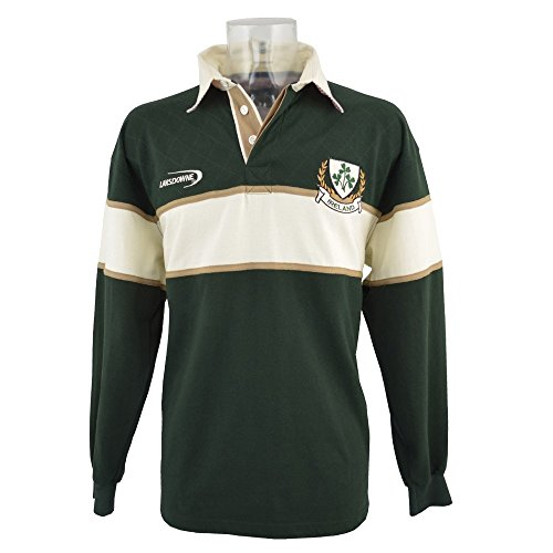 Trébol De Manga Larga Camiseta De Rugby XXL De Los Hombres