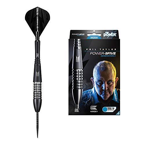 Target Darts Dartpfeile–Power 9Fünf Generation 4Stahl Tip Darts, Power 9Five 24G Generation 4 Steel Tip Darts, 24g