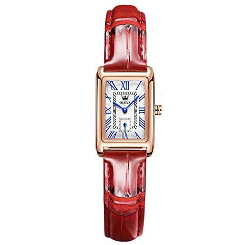 RORIOS Moda Relojes Mujer Impermeable Analogico Relojes con Banda de Cuero Casual Vestir Relojes de Pulsera para Mujer Damas