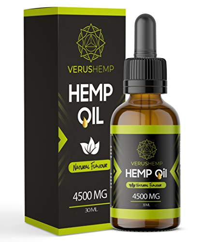 Hemp Oil Drops 4500mg 30ml   Strong High Quality   Organic and Natural Ingredients   Suitable for Vegans & Vegetarians (30ml)