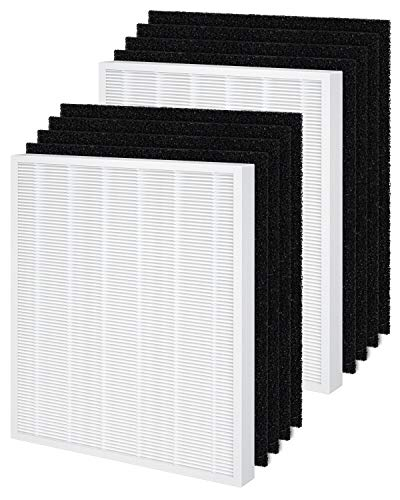 2-Pack AP-1512HH Filter Compatible with Coway Air Purifier, with 8 Carbon Filters, Part# 3304899