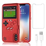 Gameboy Case for iPhone X/XS,Handheld Retro 36 Classic Games,Color Video Display Game Case for iPhone,Anti-Scratch Shockproof Phone Cover for iPhone WeLohas