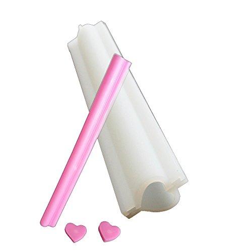 X-Haibei Heart Tube Column Silicone Soap Mold Embed Soap Making Supplies