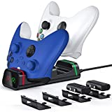 Vivefox Xbox Controller Charger Station for Xbox Series & One S/X/Elite Controller, Xbox Series X/S Controller Charging Dock with 2 Packs Rechargeable Battery Pack Fits X-One & Series Controllers