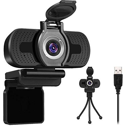 Cámara web Full HD 1080P con cubierta para webcam USB, con micrófono integrado, Plug and Play para ordenador de sobremesa, ideal para conferencias, transmisión en directo y llamadas de vídeo 06