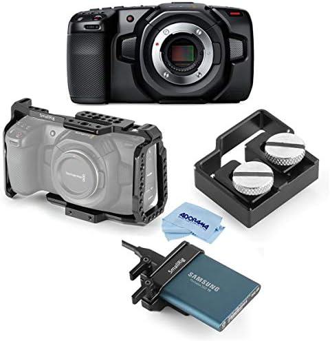 Blackmagic Design BMPCC Pocket Cinema Camera 4K Bundle with SmallRig HDMI and USB C Cable Clamp product image