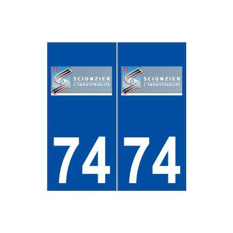 74 Scionzier logo autocollant plaque stickers ville - droits