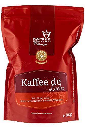 Kaffeerösterei Kirmse I Kaffee de Luchs I 500g I Kaffee aus Guatemala I Kaffeeprojekt I Kaffee gemahlen I Handverlesen I Fair gehandelt I Schonend geröstet I Wenig Säure I Filterkaffee I 100% Arabica
