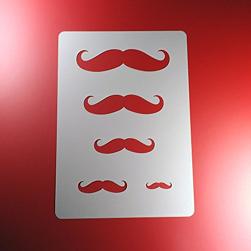 Schablone Moustache Schnurrbart 5 Größen - BA20