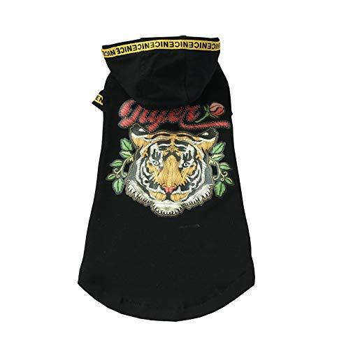 Khemn Designer Tiger Street Fashion Cat Sweater mit Dicker Baumwolle - Beste für haarlose Katze